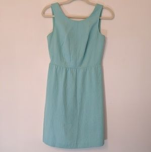 LOFT Keyhole Dress Teal Size 0